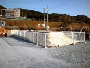 仮設住宅浄化槽廻り 周囲柵